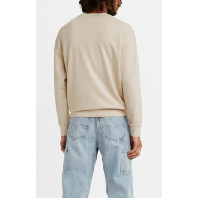 Relaxed MV Crew Neck Sweater in Pumice Stone