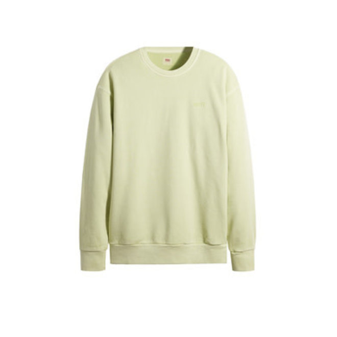 Relaxed MV Crew Neck Sweater in Shadow Lime