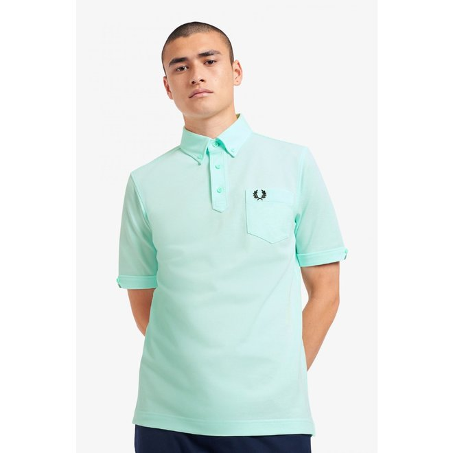 Button Down Polo in Brighton Blue