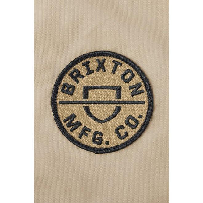 Claxton Crest Lightweight Zip Hood Jacket in Vanilla/Steel Blue