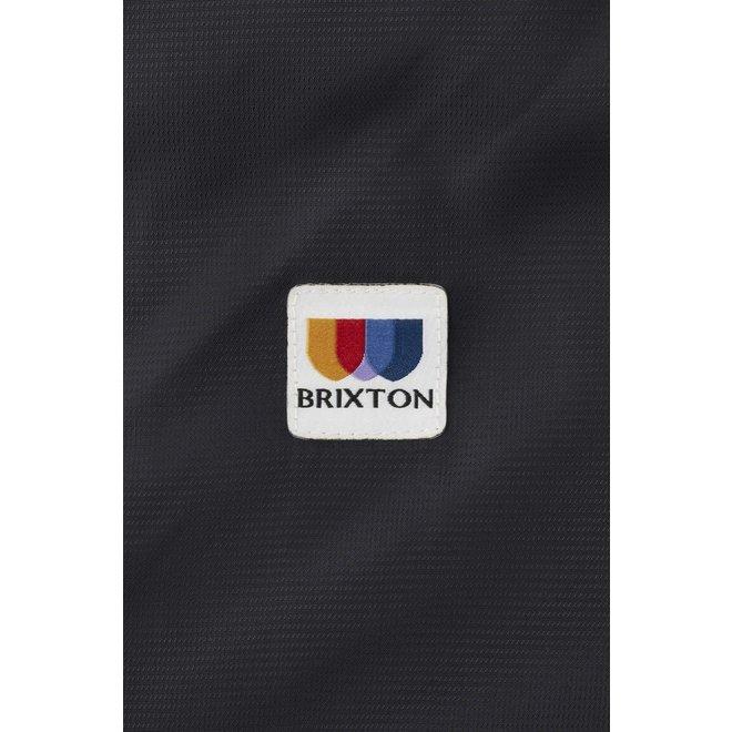 Claxton Alton Lightweight Zip Hood Jacket in Black/White