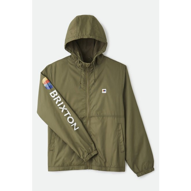 Claxton Alton Lightweight Zip Hood Jacket in Military Olive
