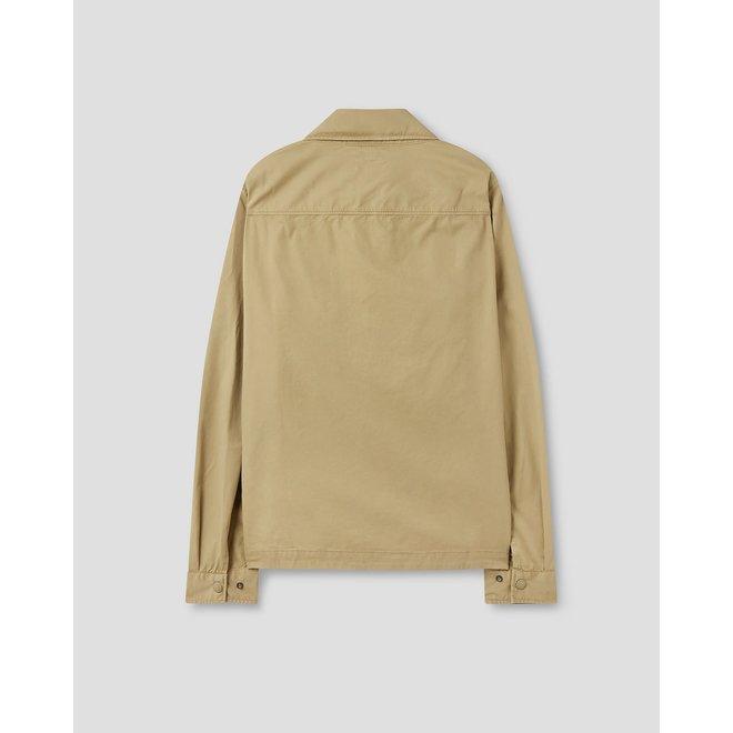 Gabardine Garment Dyed Overshirt in Cornstalk