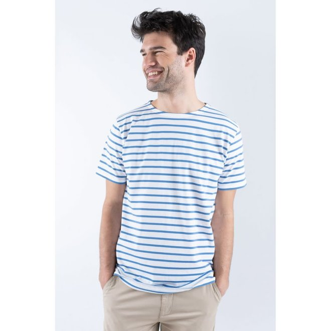 """Sailor """"Hoedic"""" T-Shirt in White/Blue"""