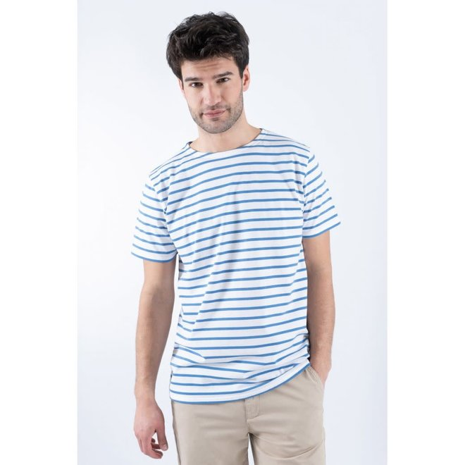 "Sailor ""Hoedic"" T-Shirt in White/Blue"