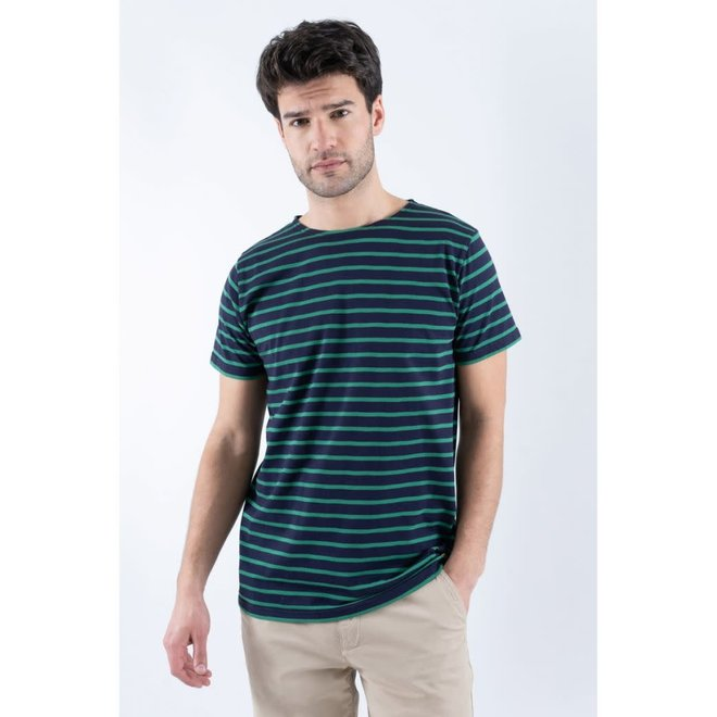 "Sailor ""Hoedic"" T-Shirt in Navy/Green"