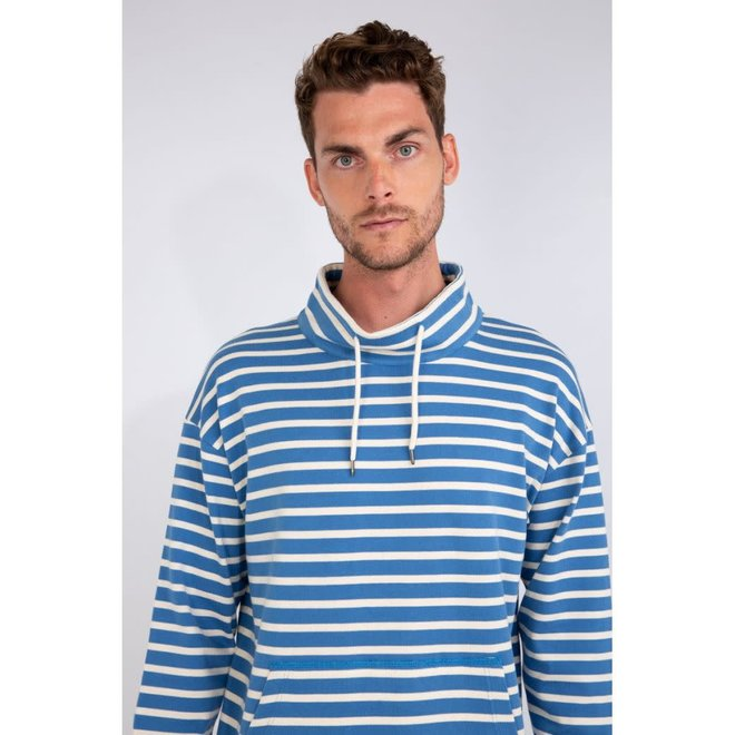 Montant Heritage Hoodie in Ozero Blue/Natural