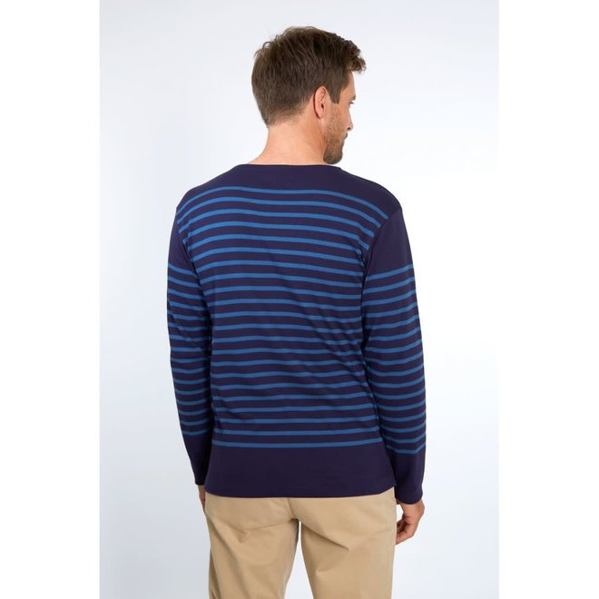 Mariniere Amiral Sweater in Navy/Ozero Blue
