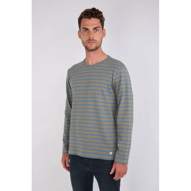 Mariniere Heritage Sweatshirt in Fern/Ozero Blue