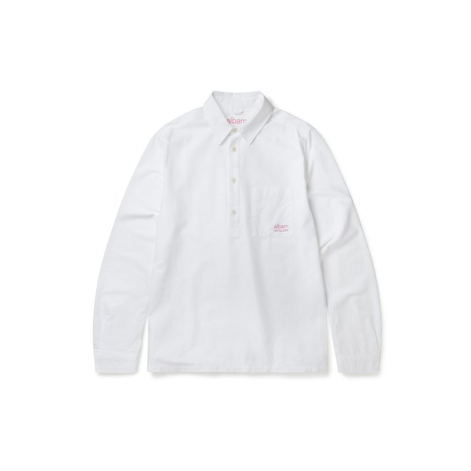 Utility Pullover Shirt in White