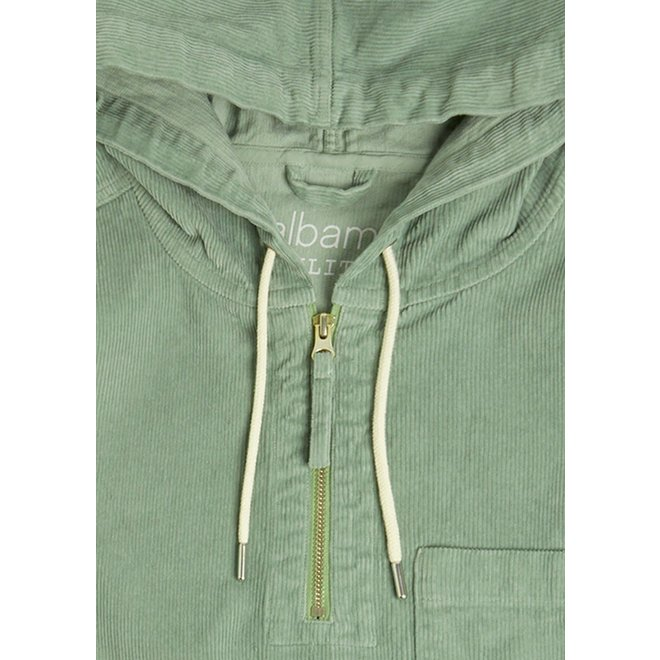 Utility Corduroy Hooded Overshirt in Overall Green