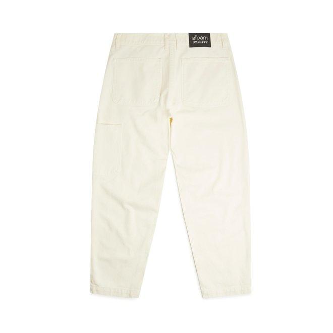 Utility Slim Fit Work Trouser in Ecru