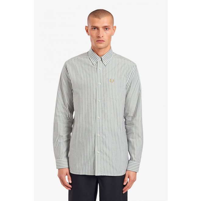 Vertical Stripe Shirt in Snow White