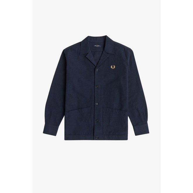 Check Overshirt in Navy