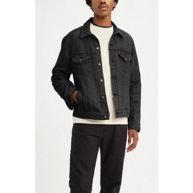 Vintage Fit Trucker Jacket in Black
