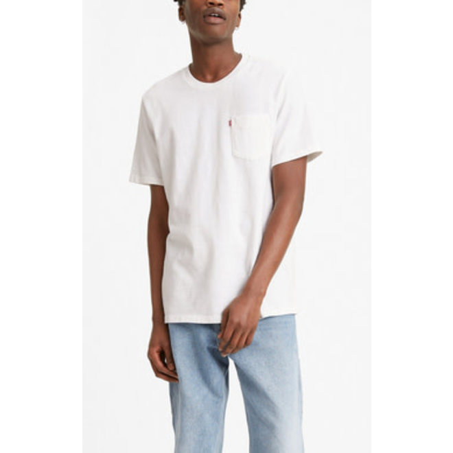 Relaxed Fit Pocket Tee in White