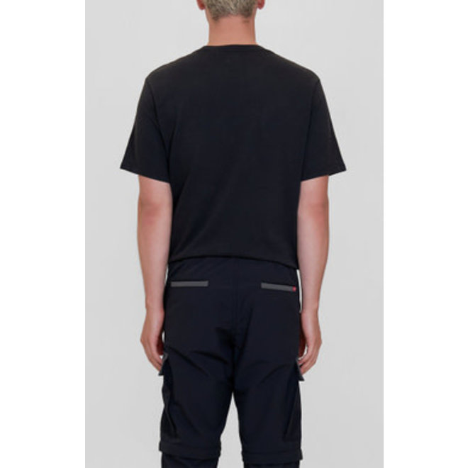 Relaxed Fit Pocket Tee in Jet Black