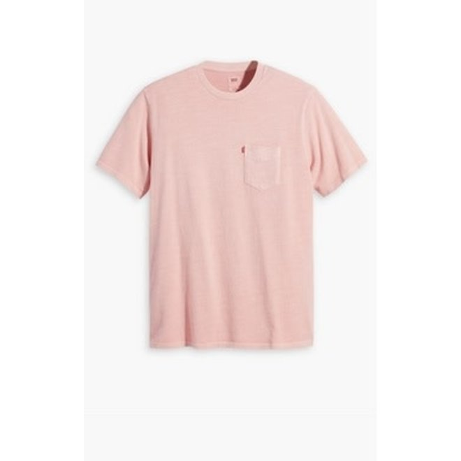 Relaxed Fit Pocket Tee in Powder Pink