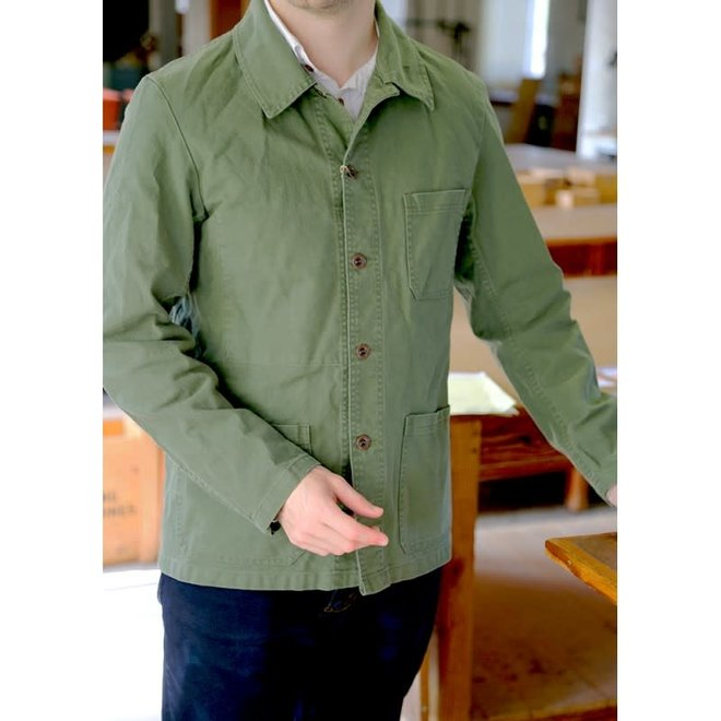 Workwear Jacket - Twill Fabric in Vet Jade