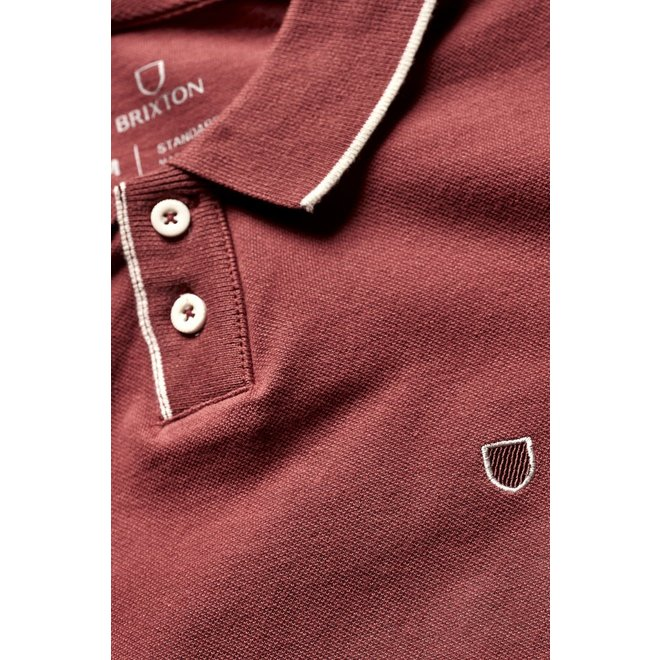 Proper S/S Pique Polo Knit in Cowhide