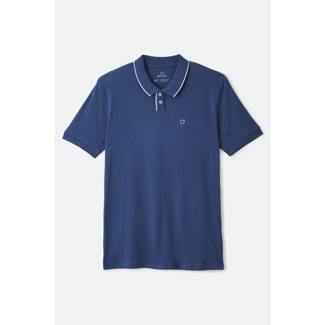 Proper S/S Pique Polo Knit in Joe Blue