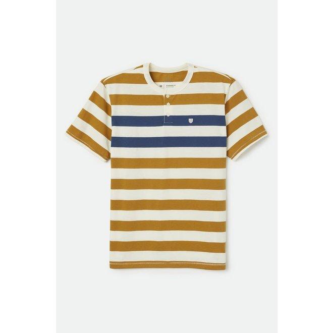 Hilt S/S Henley Knit in Off White/Bronze/Joe Blue