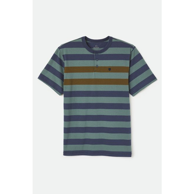 Hilt Henley Knit in Silver Pine/Washed Navy/Olive