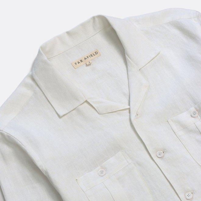 Cohen Long Sleeve Shirt in White Sand