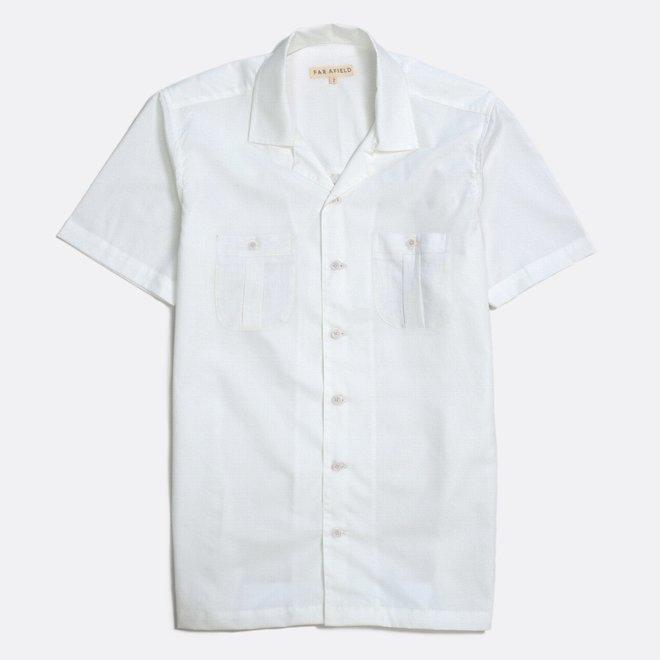 Cohen Short Sleeve Shirt in White Sand