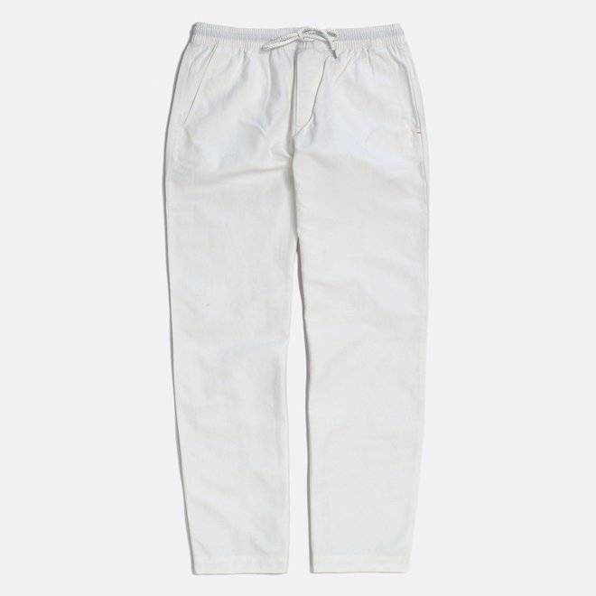 House Trousers in White Sand
