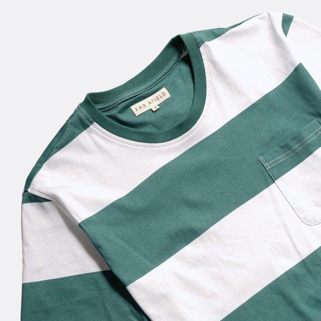 Bold Stripe T-Shirt in Sagebrush Green