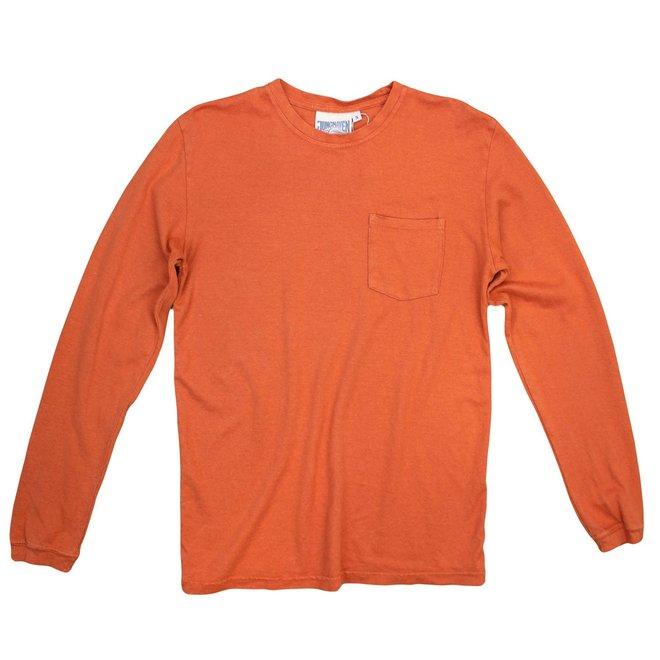 Baja Long Sleeve Pocket Tee in Burnt Orange