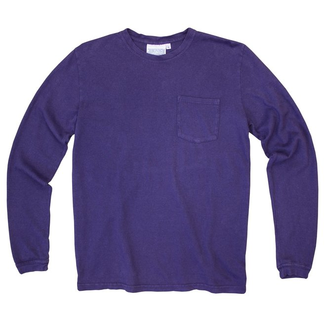 Baja Long Sleeve Pocket Tee in Deep Purple