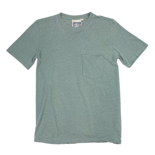 Jung Pocket T-Shirt in Clay Green
