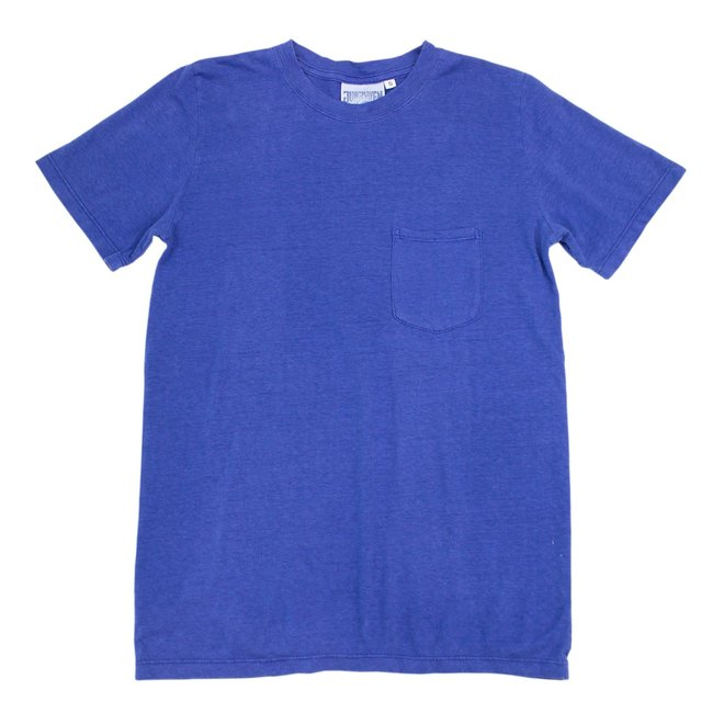 Jung Pocket T-Shirt in Cobalt Blue
