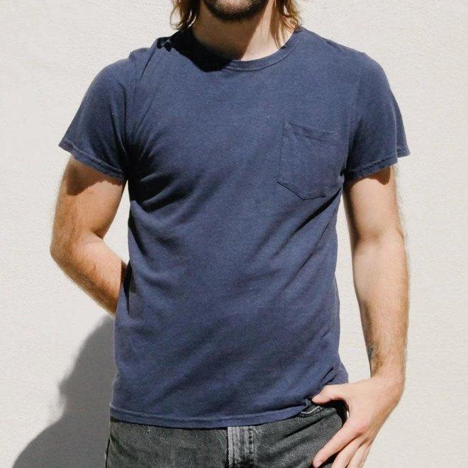 Jung Pocket T-Shirt in Navy