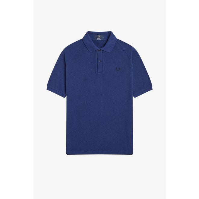 Reissues - Textured Piqué Polo Shirt in French Navy