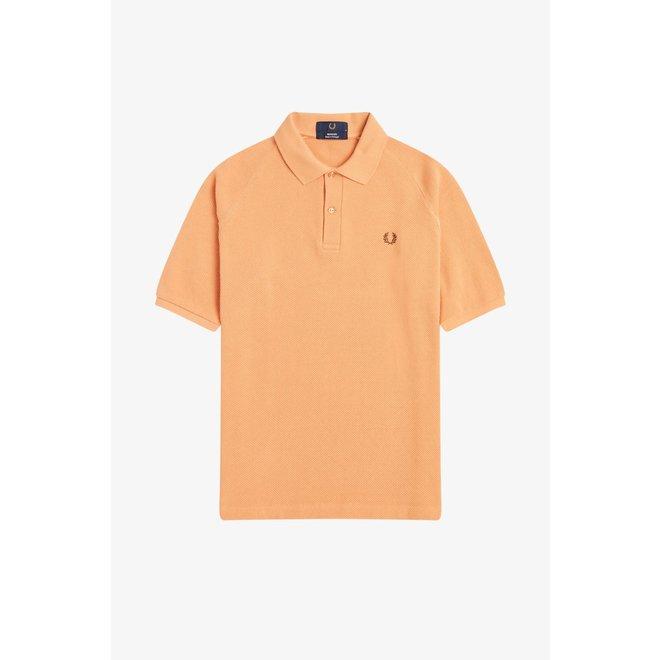 Reissues - Textured Piqué Polo Shirt in Squash