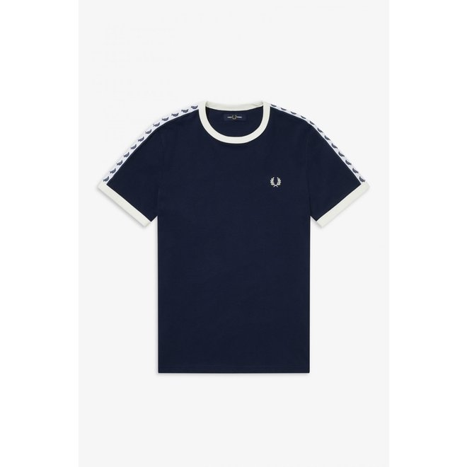 Taped Ringer T-Shirt in Carbon Blue