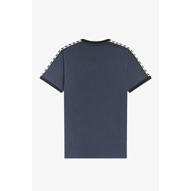 Taped Ringer T-Shirt in Dark Airforce