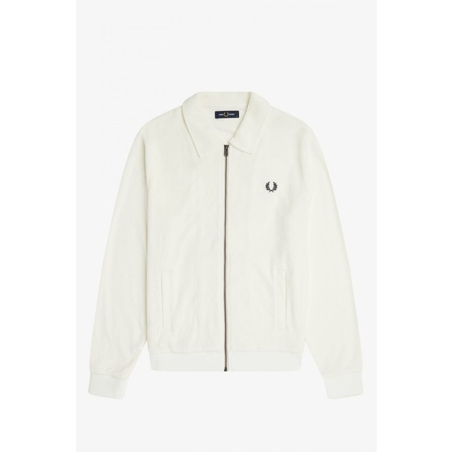 Towelling Track Jacket in Snow White