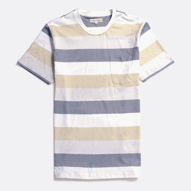 Bold Stripe T-Shirt in Cloudburst