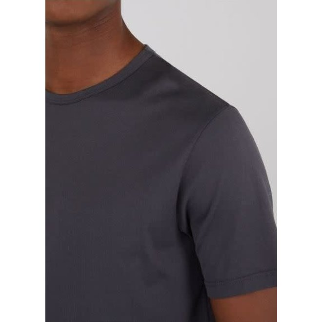 Classic Crew Neck Tee in Charcoal