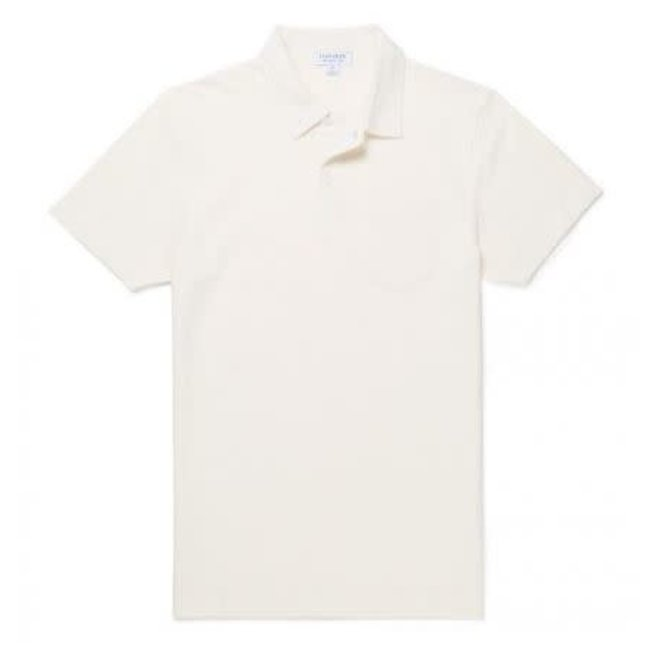 Riviera Polo Shirt in Archive White