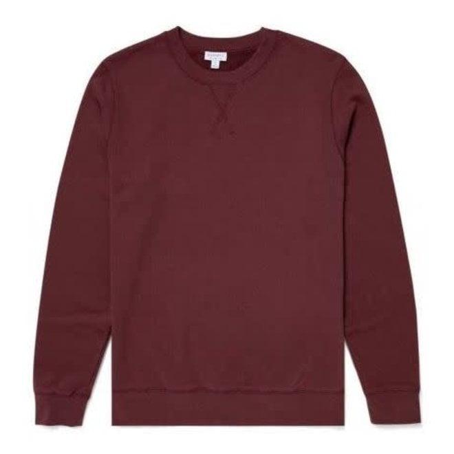 Classic Loopback Sweatshirt in Oxblood Red