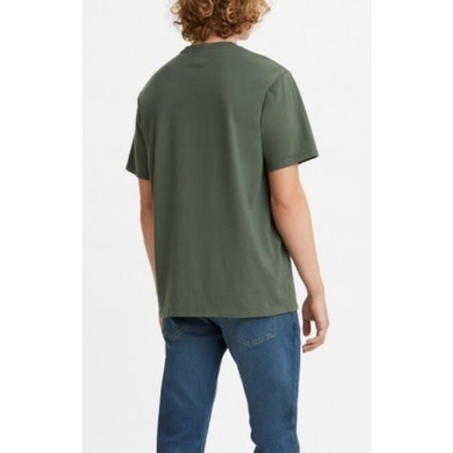 Relaxed Fit Pocket Tee in Thyme