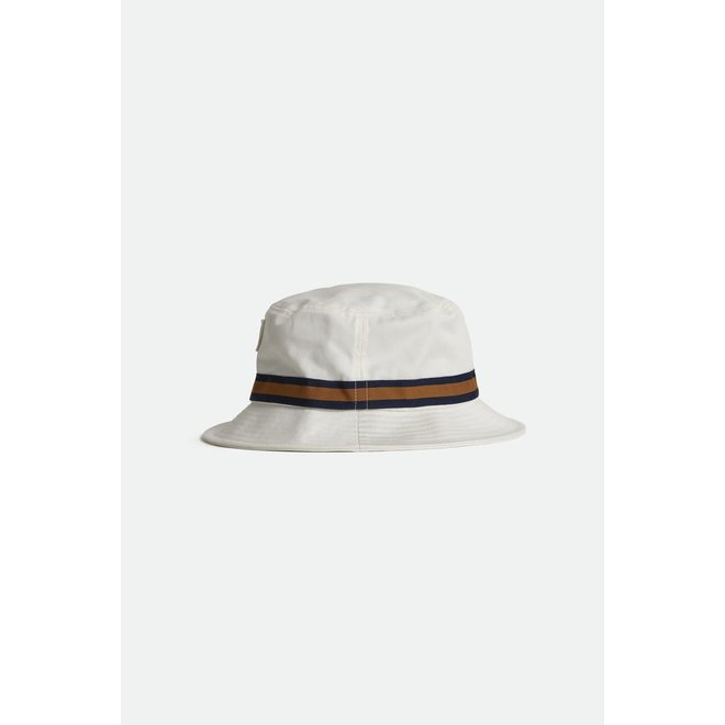 Alton Packable Bucket Hat in Off White/Washed Navy