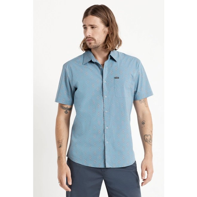 Charter Crossover Stretch Woven Shirt in Slate Blue
