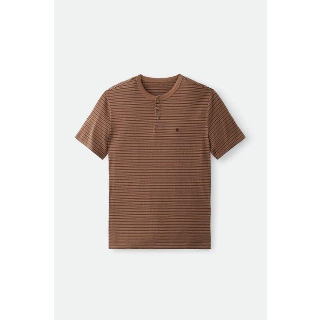 Hilt Henley Knit in Dark Khaki/Brown