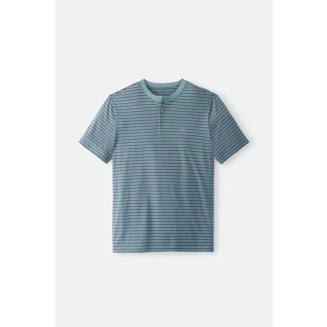 Hilt Henley Knit in Ocean/Washed Navy